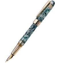 Montagut Celluloid Mini Fountain Pen Blue-Lake Pocket Size Golden Clip Iridium Fine Nib 0.5mm Fashion Writing Office Gift Pen