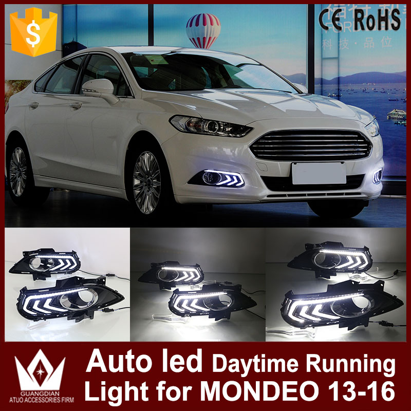 Nightlord Car Styling DRL Headlights for Ford Mondeo 2013-2016 daytime running light Auto LED Day Driving Lamp lyc headlights auto day running light kit truck light parts led lights car 6000k 7 inch led round 1800lm lamp car styling