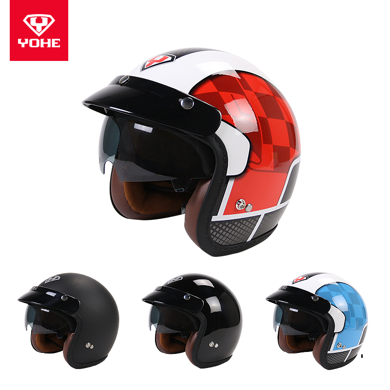 YOHE-YH-859 Best Safe Harley capacete para motocicleta helmet Abs High Quality Half face cascos para moto Open Face Helmet