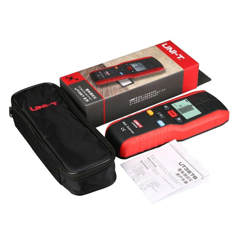 UNI-T UT387B profesjonalne ściany detektor tester, drewno, Metal, kabel AC drut elektryczny Finder skaner dokładne narzędzie do wykrywania ścian