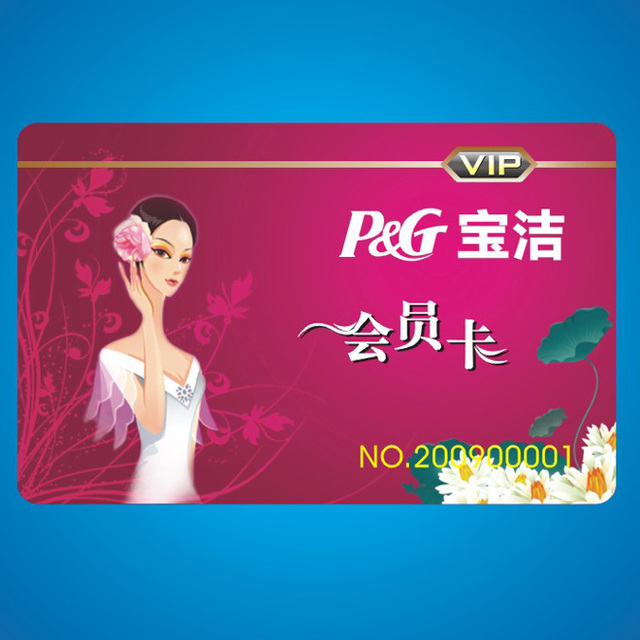 Credit card size plastic visiting cards supplier