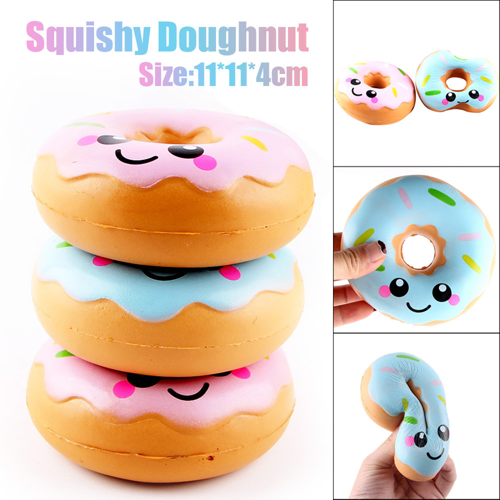 11cm Lovely Doughnut Squeeze Toys Cream Scented Squeeze Toys Collection Squishes Slow Rising Toys For Kids Child A1