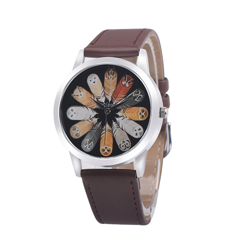 Owl Design Women Watch Luxury Casual Simple Quartz Clock For Women Leather Strap Vogue Wrist Watches Reloj Mujer Drop Ship #C