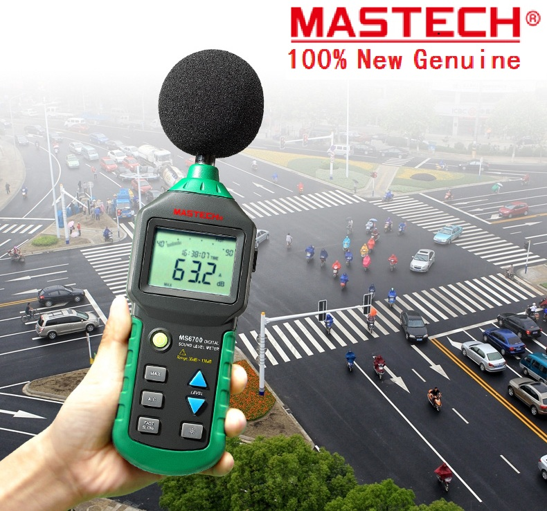 HotMASTECH MS6700 Auto Range Digital Sound Level Meter Tester Decibel Noise Meter 30dB to 130dB With Clock and Calendar Function