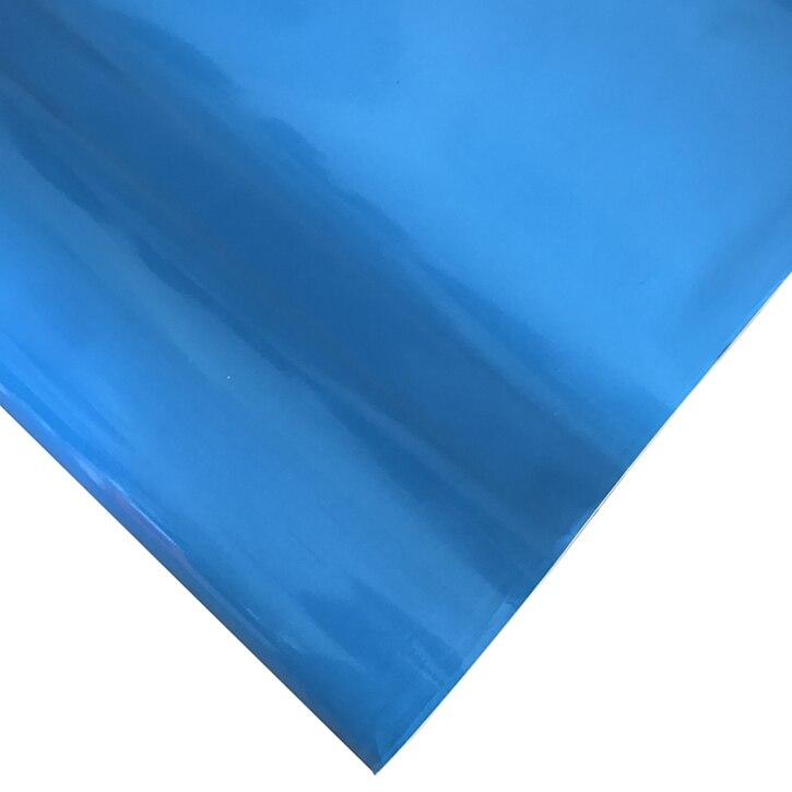 10/20/30/40/50X152 см Глянцевая красная виниловая пленка стикер глянцевый автомобиль обертывание Фольга Наклейка на автомобиль, скутер, мотоцикл обертывание ping Air Bubble бесплатно - Название цвета: Light Blue