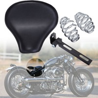 Motorcycle Cushion pad Solo Seat & Springs Mount Bracket Kit For Harley Sportster Chopper Bobber Custom
