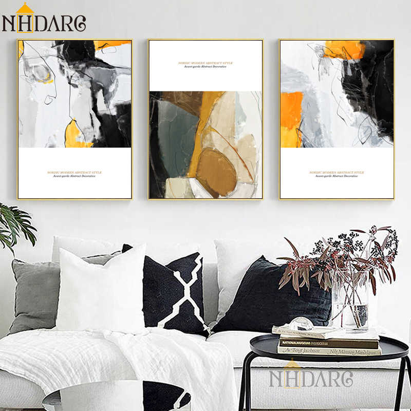 Modern Casual Luxury Style Abstract Posters and Prints Canvas Painting Art Wall Pictures For Living Room Abstract Home Decor