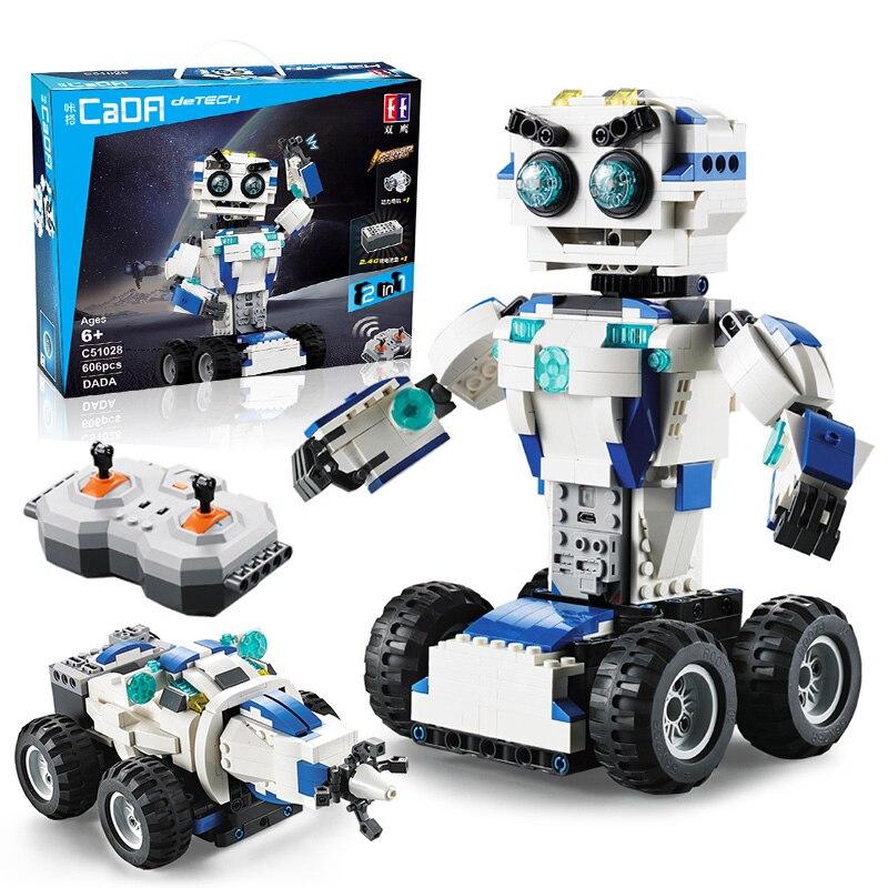 606 pièces GPM Ensembles de Blocs De Construction Robot RC 2-EN-1 Mode Transformer Télécommande Robots Compatibles Technique Briques Jouets Pour Enfants