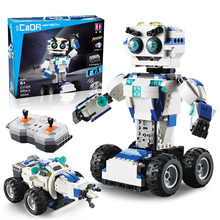 606pcs MOC Building Blocks Sets RC Robot 2-IN-1 Mode Transform Remote Control Robots Compatible Technic Bricks Toys For Children