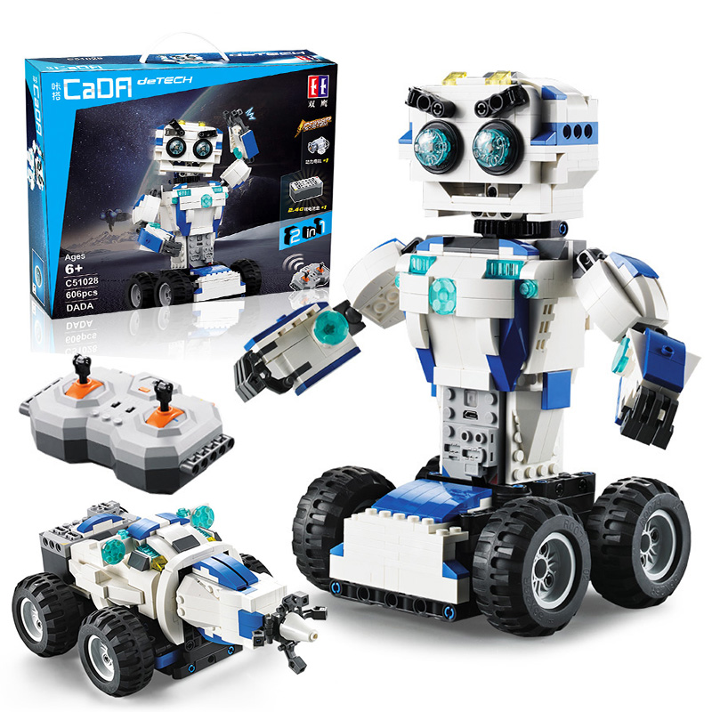 606pcs moc 빌딩 블록 세트 rc 로봇 2 in 1 모드 변환 원격 제어 로봇 호환 기술 벽돌 장난감 어린이위한-에서블록부터 완구 & 취미 의  그룹 1