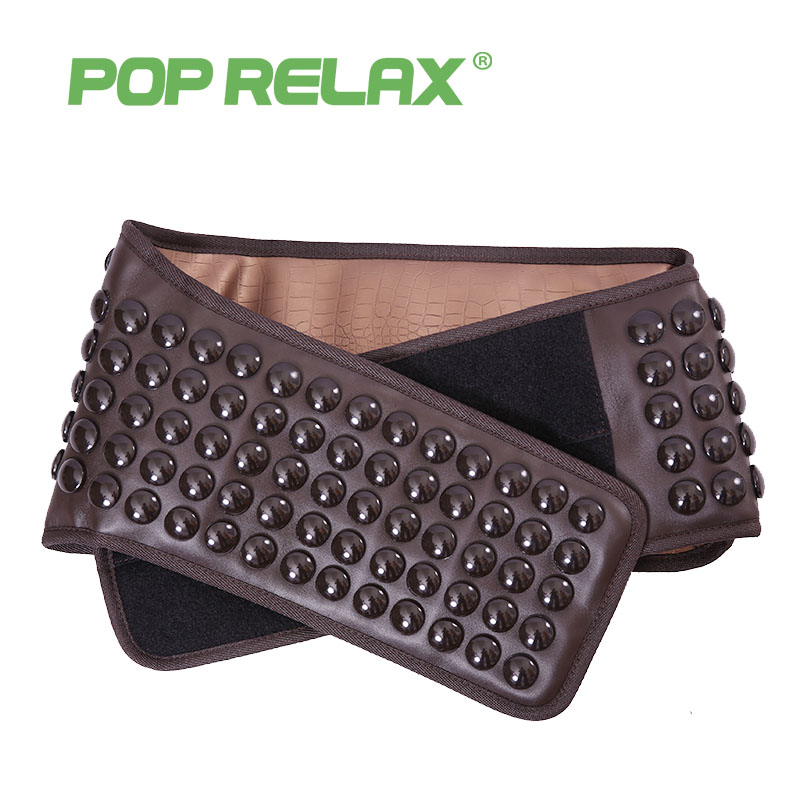 POP RELAX Germanium tourmaline waist belt jade stone far infrared thermal physical therapy massager health electric massage belt pop relax tourmaline health products prostate massager for men pain relief 3 balls germanium stone far infrared therapy heater