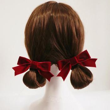 4 sztuk nowy łuki aksamitna spinki do włosów moda Bowknot Hairpinss dla kobiet dziewczyn akcesoria do włosów piękna kokarda klamry do włosów tanie i dobre opinie Velvet ribbon WOMEN Dla dorosłych Nakrycia głowy Barrettes Stałe wj-shougongfashi-022