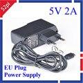 Raspberry Pi Plug Power Adapter UE 5 V 2A Micro USB Charger Power Supply para Banana BPI-M1 + BPI-M1 PSU Fonte de alimentação