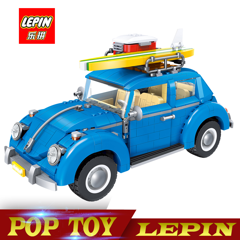 New Lepin 21003 Series City Car Classical Travel Car model Building Blocks Bricks Compatible legoed Technic Car Educational Toy new lepin 21003 series city car beetle model educational building blocks compatible 10252 blue technic children toy gift