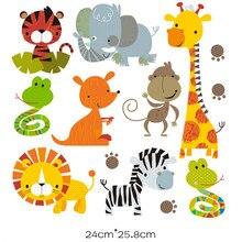 Patchs de fer à repasser pour vêtements d'enfants, autocollants à rayures, dessin animé, animaux
