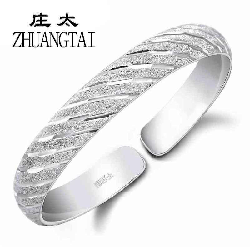 New Silver Bracelet Female Models Classic Matte Meteor Shower Hand Ring Popular Jewelry High Quality Sliding Open Women Bracelet