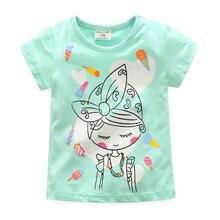 2019 Summer T-Shirt kids Girls Clothes Baby Girl Cotton T-shirts Roupas Infantis Camiseta Children Tops Vetement Fille Enfant