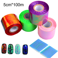 New 1roll Holographic Shiny Laser Nail Transfer Foil Sticker Broken Glass DIY Nail Art Beauty Decoration