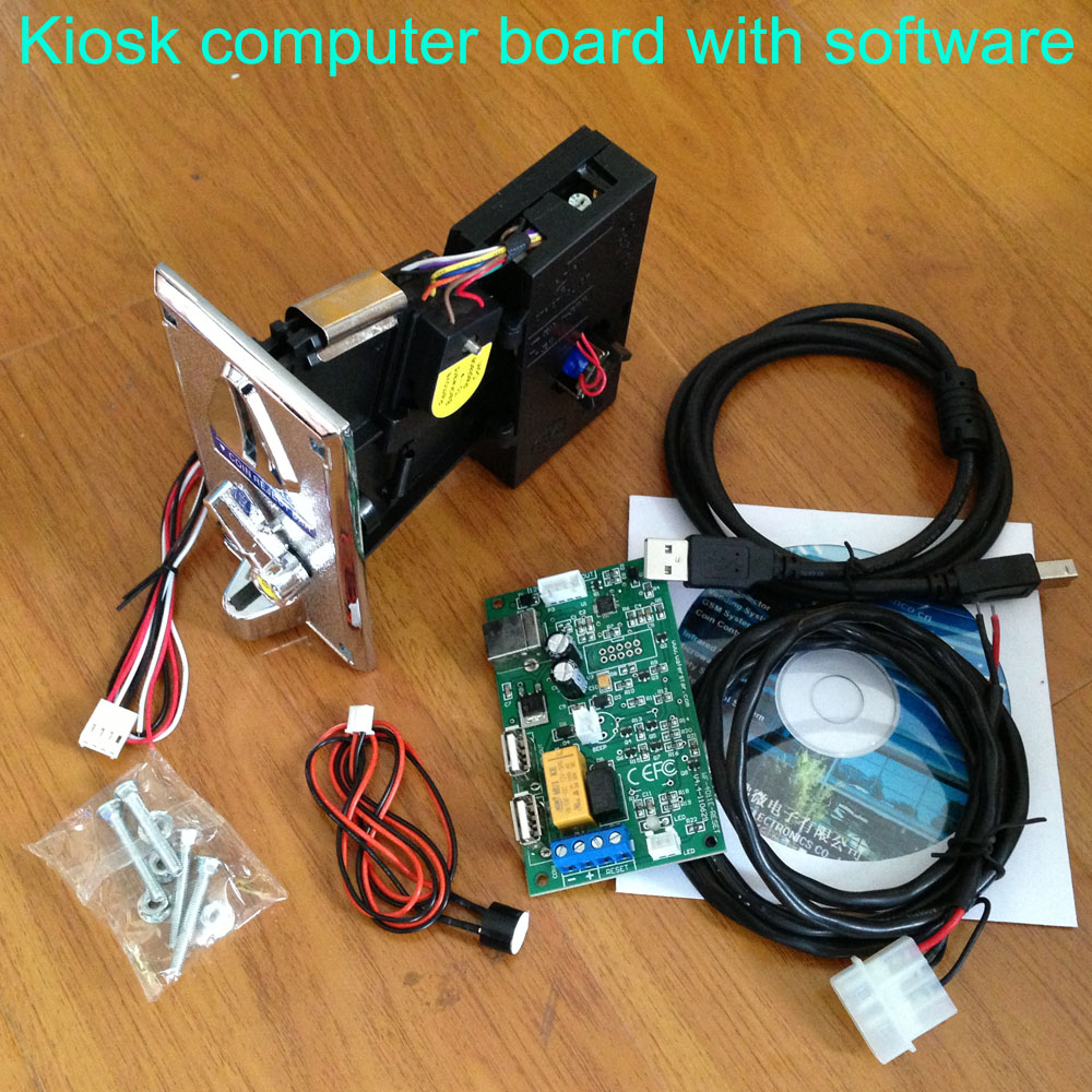USB Adapter board with coin acceptor, software for kiosk computer Hardware and software security running and Email data report недорого