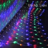 1.5 M * 1.5 M/3 M * 2 M/6 M * 4 M LED Net Ánh Sáng EU 220 V Đèn giáng sinh Ngoài Trời/Trong Nhà Chống Thấm dây chiếu sáng Cho NEW NĂM