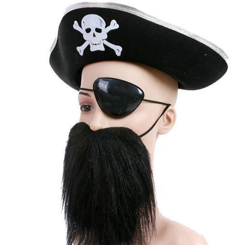 85acb31e73448 Cosplay Pirate Set pirates Hats eyepatch beard Knife Suit Halloween  Decorations Party accessories Performance Supplies-in Party Hats from Home    Garden on ...