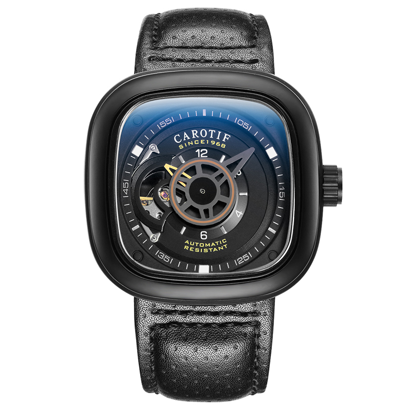 Carotif casual lederen mechanische horloges - Herenhorloges