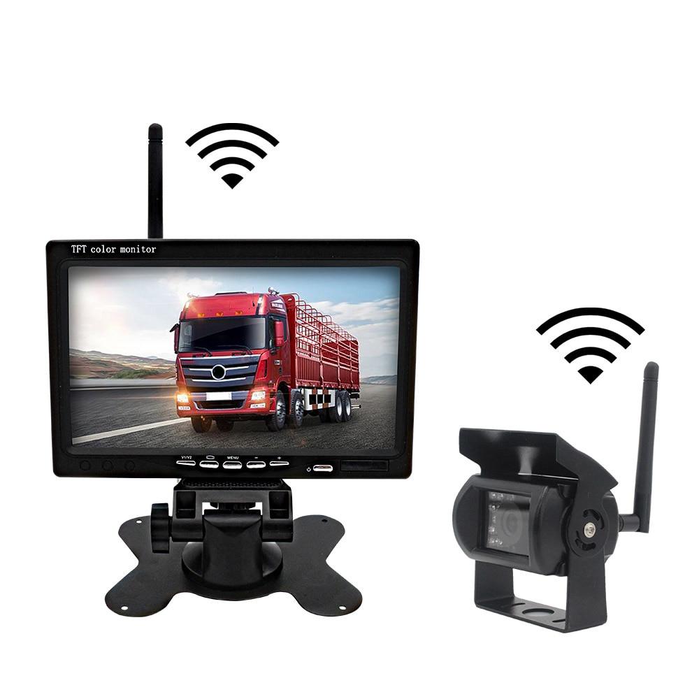Car Truck WIFI Wireless Backup Camera 7 Inch Digital Monitor Screen Wth Rearview Camera Parking Reverse Camera For RV Truck