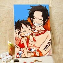 diy oil painting  One Piece  digital paint by numbers  Japan Style cartoon   modular painting   diy digital painting