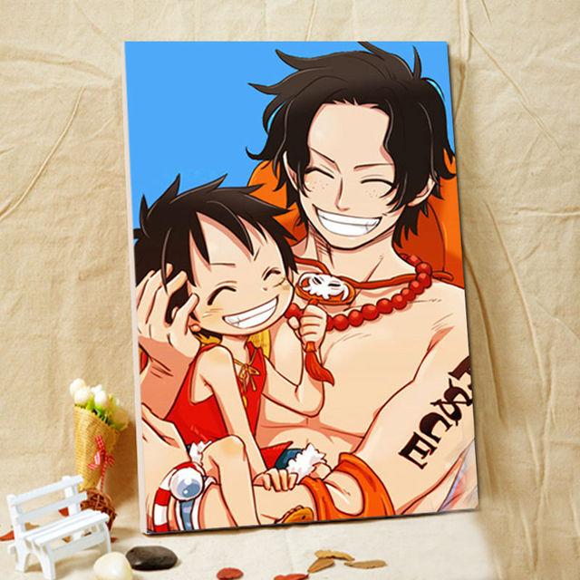 ffe12c53694 diy oil painting One Piece digital paint by numbers Japan Style cartoon  modular painting diy digital