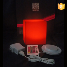 D13cm Led Colorful waterproof energy-saving LED square cube Bar Stool 13*13*13cm as table night light free shipping 1pc waterproof colorful led cube night light vc a300