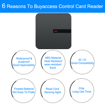 цена на Eseye Proximity Card Access Control Reader 125KHZ/13.56MHZ Wiegand Reader 26/34 RFID Card Reader For Door Access Control System