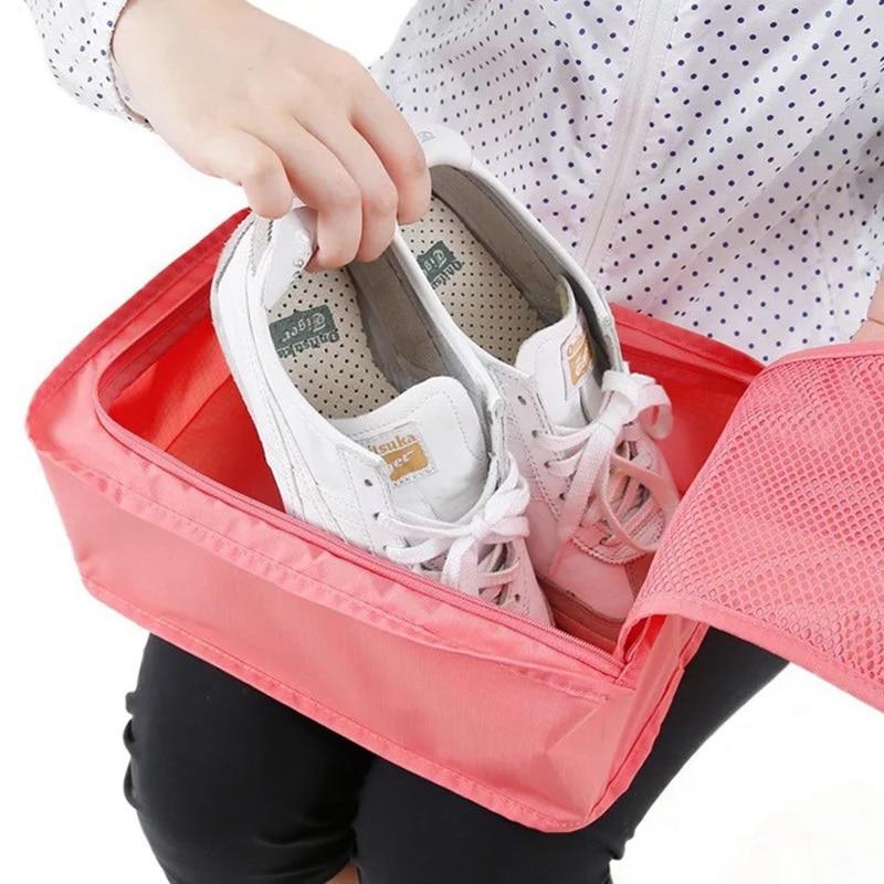 Shoe bag storage bag shoe box dust sneaker storage bag shoe cover beam transparent travel shoes storage bag Shoe Bags
