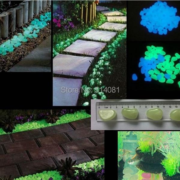 50pcs blue glow in the dark fluorescent pebbles stones. Black Bedroom Furniture Sets. Home Design Ideas