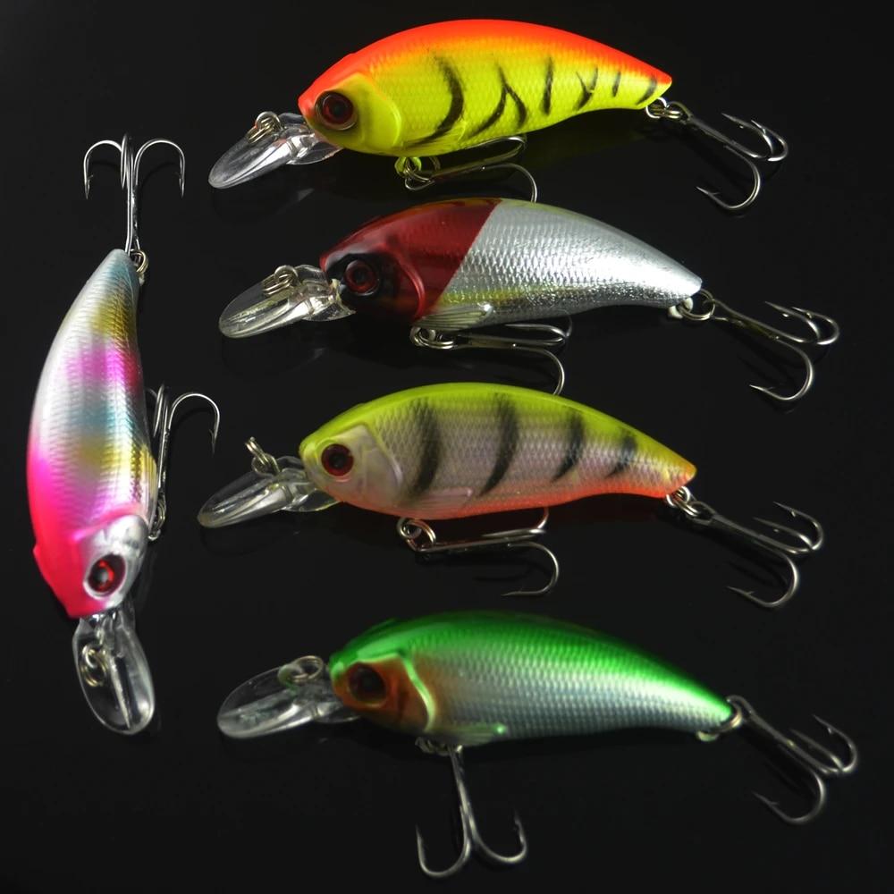 LOT 10Pcs Fishing Lures Fish Crankbaits Bass Minnow Baits Swimbait Tackle Hook