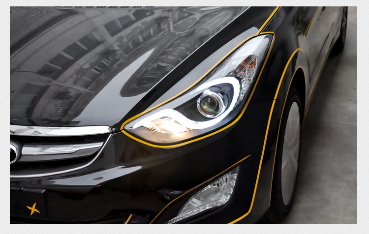 Elantra Car Accessories For Hyundai Elantra led HeadLight Car ...