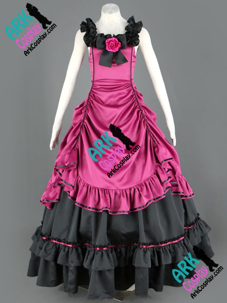 Gothic Lolita Dress Cosplay Purple Womens Lolita Dress Costume