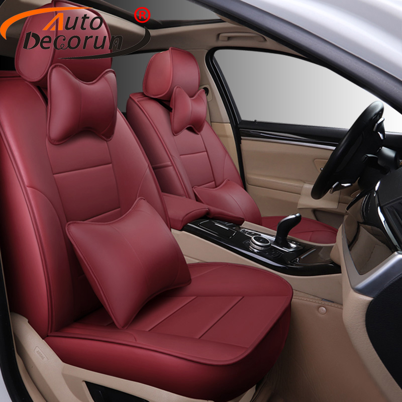 AutoDecorun Custom Genuine Leather Covers Seat for KIA Carens 2015 Car Seat Cover 5 & 7 Seats Supports Accessories 14-22 PCS/set