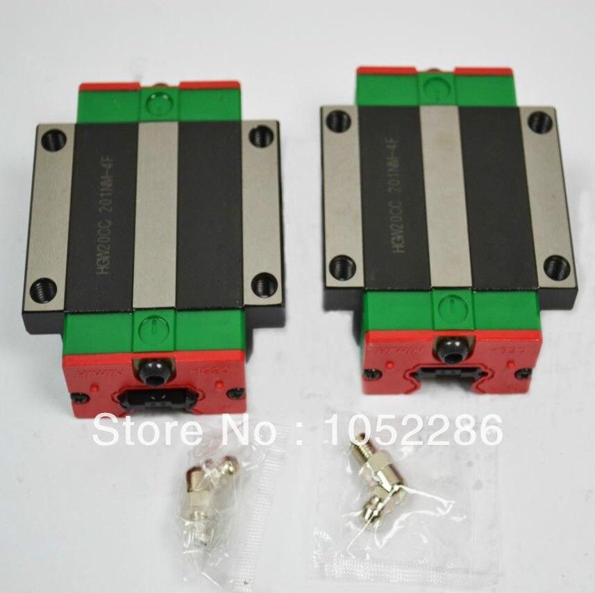 6 pz/lotto 100% originale Hiwin HGW25CA/HGW25CC lineare flangiato blocchi6 pz/lotto 100% originale Hiwin HGW25CA/HGW25CC lineare flangiato blocchi