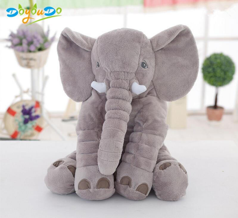 40CM//60CM Baby Animal Plush Elephant Doll Pillow Kids Toy Children Room Bed Deco