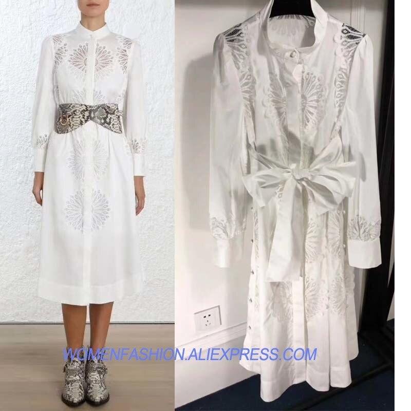 Для Женщин Осеннее платье Модные off white офисной одежды midi бинты роковой обувь для повседневной носки или вечеринки платье футболка с длинным