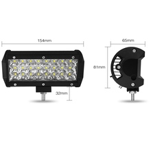 7 Inch 72W  Three Rows Led Light Bar Daytime Running Lights Car Styling Work Flood Beam Tractor Truck Offroad