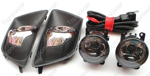 1set Right  Left Clear Fog Lights Lamp Kit  Bezel Covers