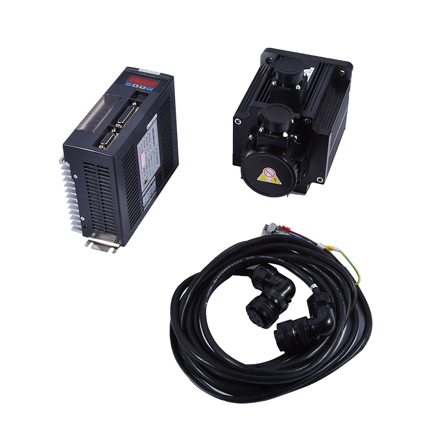 2.0KW AC Single phase Servo Motor With Driver 7.7N.M 2KW 2500rpm 130ST M07725+1M Motor cable+1M Encoder Cable 1 set High quality