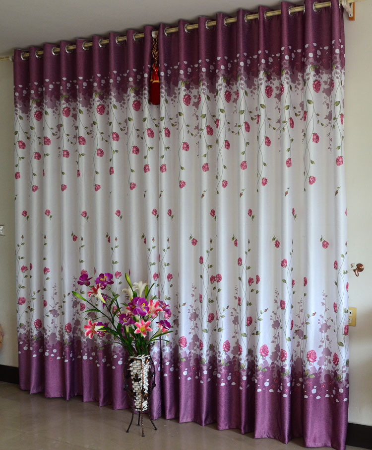 2014 Printed Luxurious Living Room Curtains Bedroom