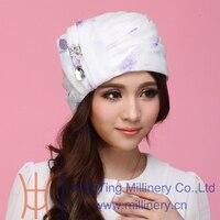 New Design Women Summer Hat Organza Hats Party Wedding Traveling Beach Head Wear Fashion Girl S