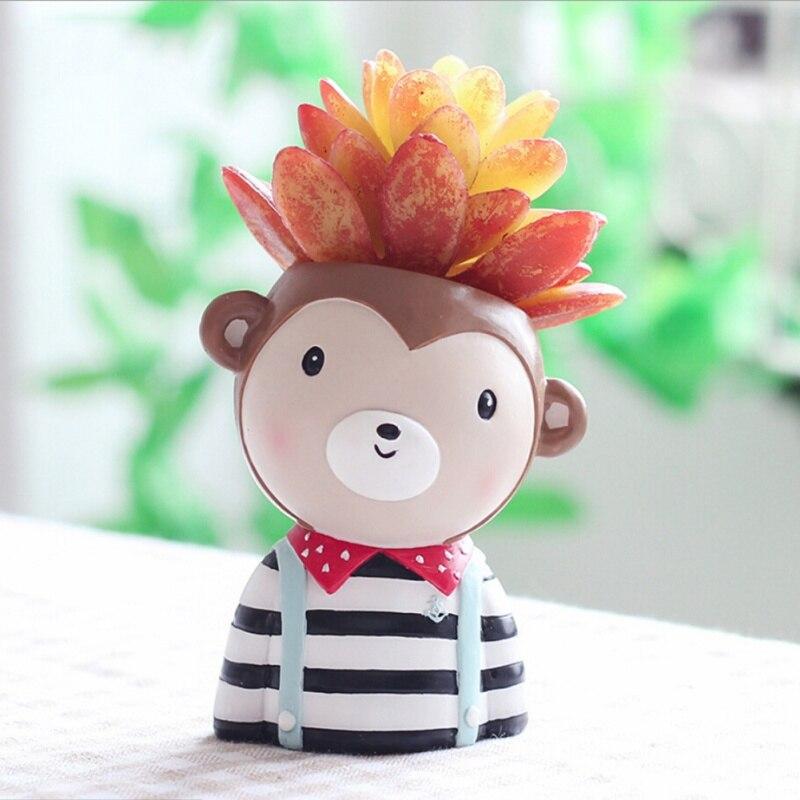 Tier Sukkulenten Übertopf Mini Bonsai Kaktus Topf Hund Affe Schafe Moos Gartenarbeit Lieferungen Heißer Verkauf