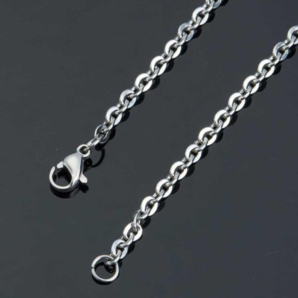 Stainless Steel 2.4mm Link Chain DIY Necklaces Jewelry Making 40cm 45cm 50cm 60cm 70cm 80cm Chain with Lobster Clasp