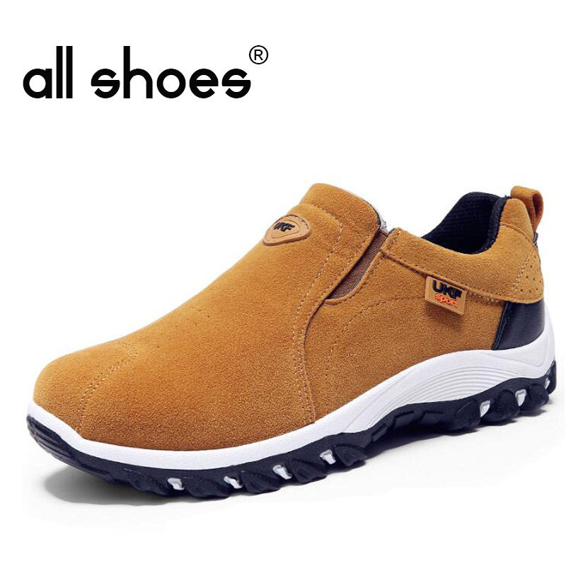 New Autumn Men Mountain Sneakers Slip On shoes Male Suede Leather Trekking Hiking Shoes Outdoor Sneakers Hiking Shoes HB-18Z 2