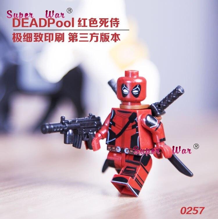 20pcs star wars superhero marvel Decool Comics Deadpool building blocks action figure bricks model educational diy baby toys