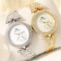 2016 Arrival Brand BS Luxury Butterfly Watch Fringed Strap Women Full Austrian Crystal Watch Lady Rhinestone